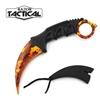 "RT-7064OC Orange Camo 7 1/2"" Karambit Knife"