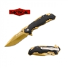 RT-7090GD HONEY COMB / GOLD BLADE ASSISTED OPEN KNIFE