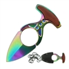 "RT-7111RB Rainbow 3"" Neck Knife with Sheath"