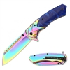 "RT-7116BL 4.5"" SPRING ASSIST POCKET KNIFE"