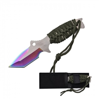 "RT-9034GN 7.5"" Green Fixed blade with Sheath"