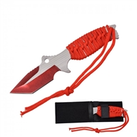 "RT-9034RD 7.5"" Red Fixed blade with Sheath"