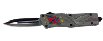 SDFOA1115CF OTF knife Confederate Flag