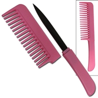 Pink Comb with Hidden Knife