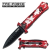 Tac Force TF-789RD Assisted Opening Folding Knife 5-Inch Closed