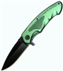 Green Assisted Opening Pocket Knife YC492GN