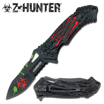 "Z HUNTER ZB-040RDAssisted Opening  KNIFE 4.5"" CLOSED"
