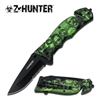 ZB-091GN Z-HUNTER MOB GREEN Assisted Opening RESCUE KNIFE