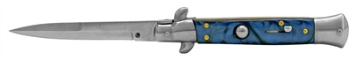 Blue Stiletto Automatic Switchblade Knife