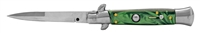 Green Stiletto Automatic Switchblade Knife
