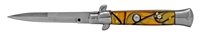 Yellow Stiletto Automatic Switchblade Knife