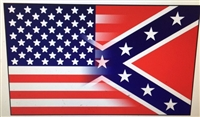 3'x5' Half and Half Confederate/ American Flag