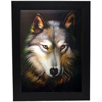 LED Framed 3D Picture Red Wolf
