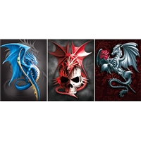 LED Framed 3D Picture Dragon with Skull