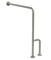 Stainless Steel Wall to Floor Grab Bars