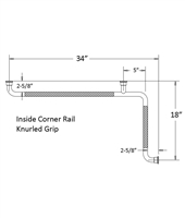 Chrome Plated Wall to Floor Grab Bars