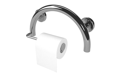 Toilet Paper Semisphere Grab Bar