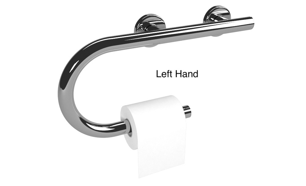 Designer Toilet Paper Holder Grab Bar