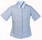 Womens Short Sleeve Button Down
