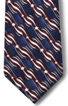 Mens Stars and Stripes Clip on tie 18""