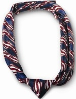 Ladies Knotted Loop Stars and Stripes Tie