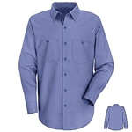 Medium Blue Long Sleeve Shirt, regular length