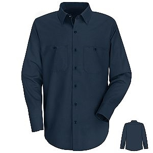 Navy Blue Long Sleeve Shirt, Tall and Extra Tall