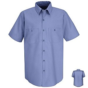 Medium Blue Short Sleeve Shirt, Tall or Extra Tall