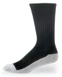 Black Crew Health Socks with White Foot