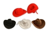 "Mini Cowboy Hat Western Wedding Favors Decoration Red Brown Black White 2""3""4"""