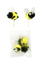 Pom pom Bees with Googly Eye Craft Spring Floral Picks CalCastle Craft
