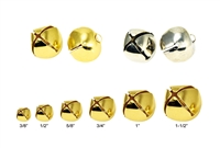 Lead Free Christmas Shining Jingle Bells Pendants Charms Gold/Silver Multi-size