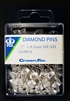 "2"" Diamond Diamante Corsage and Bouquet Pins Clear and Colors Pack of 100 Count"