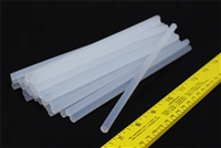 "Hot Melt Glue Stick Super Transparent 7mm X 8"" 12 PCS Made in Taiwan"