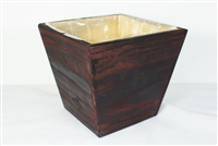 Square Wood Planter with Plastic Liner CalCastle Craft