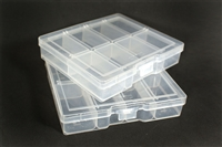 8 Slot Plastic Jewelry Holder Box Case Organizer