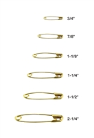 Lead Free Gold Or Silver Color High-Quality Safety Pins