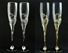 Wedding Toasting Double Heart Diamond Glass Set