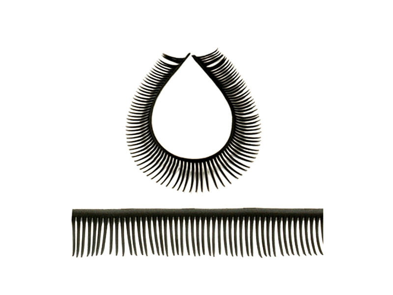 Top quality black plastic eyelashes perfect for craft doll for Craft eyes with lashes