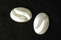 Oval Pearl Half Bead Wave Top Flat Back Jewelry Finding Decoration