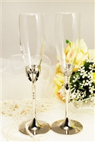 Bride & Groom Wedding Champagne Toasting Glasses Champagne Flutes Engrav