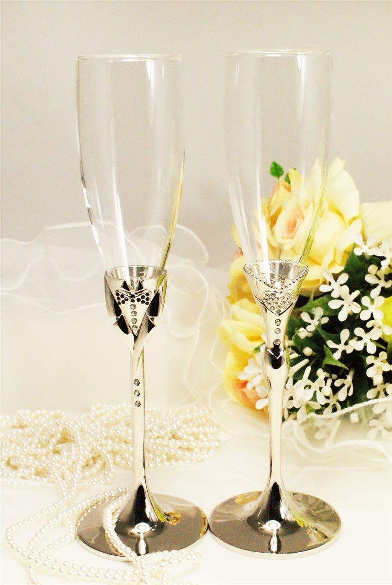 Wedding Wedding Toasting Flutes bride groom wedding champagne toasting flute glass set glasses flutes engrav