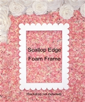 Jumbo / Large Scallop Edge Foam Picture Frame Photo Booth for Birthday Wedding Baby Shower Decoration