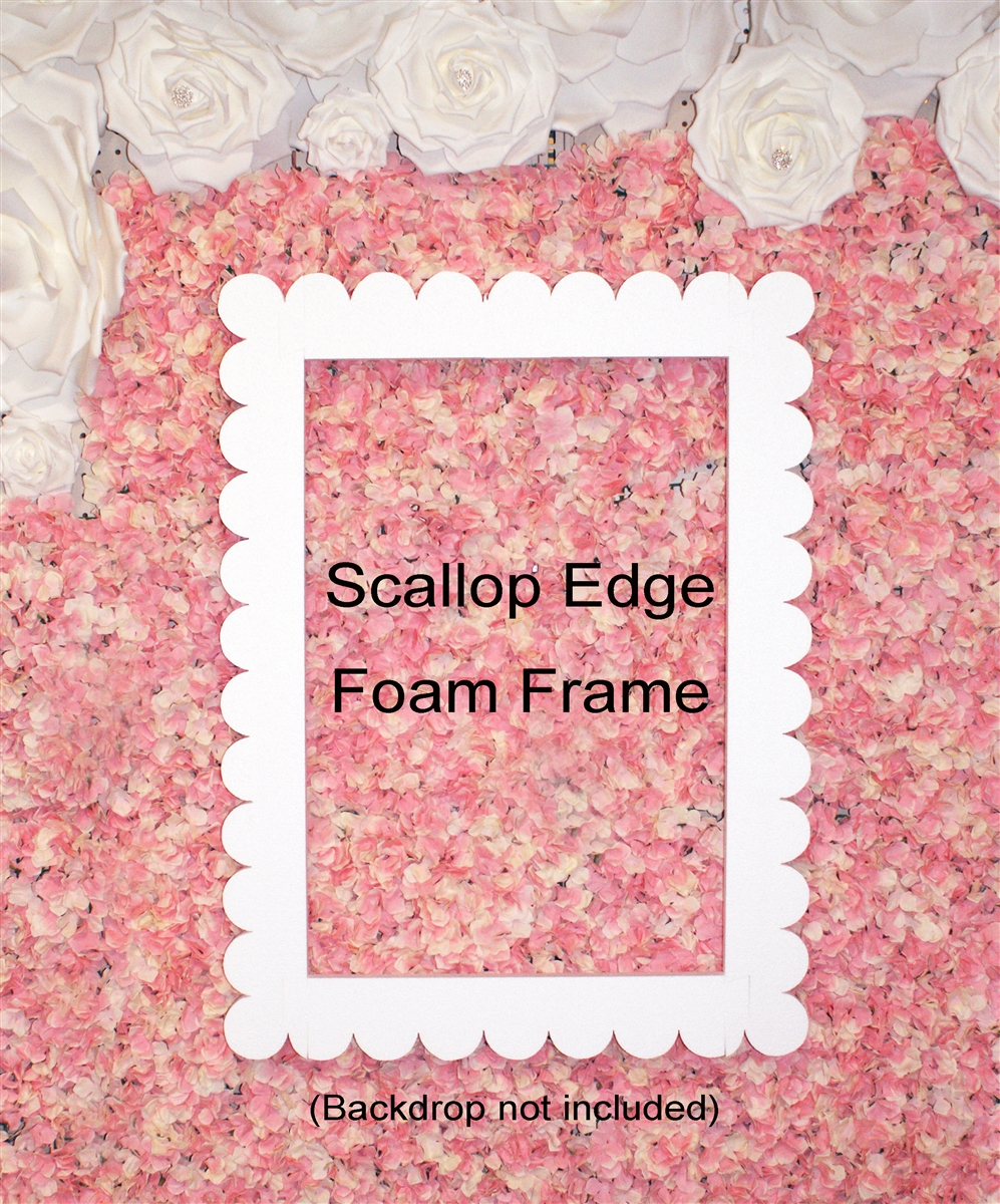 Jumbo / Large Scallop Edge Foam Picture Frame Photo Booth for ...