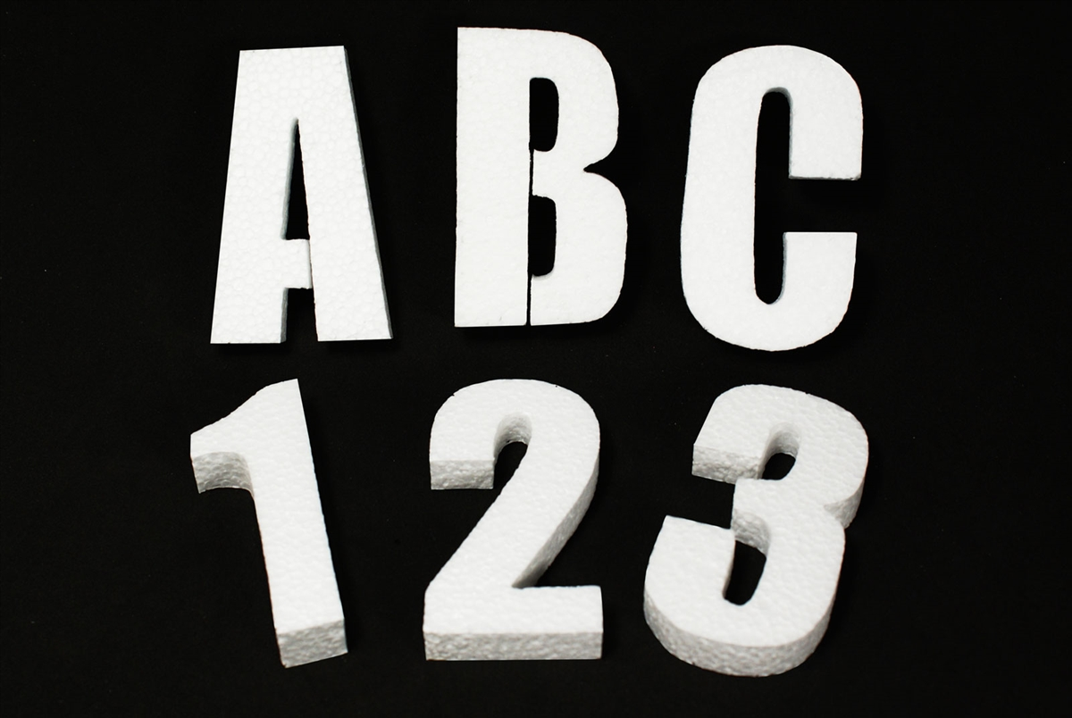 Foam letters for crafts - 3 Foam Letters Alphabet Numbers For Crafts Party Signs Walls Buildings 12pcs