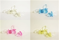 "1-3/4"" 1.75"" Medium Clear Pacifiers Baby Shower Game Party Decoration Favors"