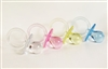 "2-1/2"" 2.5"" Large Clear Pacifiers Baby Shower Game Party Decoration Favors"