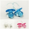 "2-1/2"" 2.5"" Large Clear Diamond Cut Blue Clear Pink Pacifiers Baby Shower Game Party Decoration Favors"