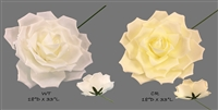 Paper Looking Foam Jumbo Rose Backdrop Wall Decor Center Piece Wedding Bridal White Cream party supply new trend
