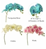 Artificial Simulation Butterfly Orchid Flower Plant Stem Prom Corsage Pink Truquosie Blue Cream